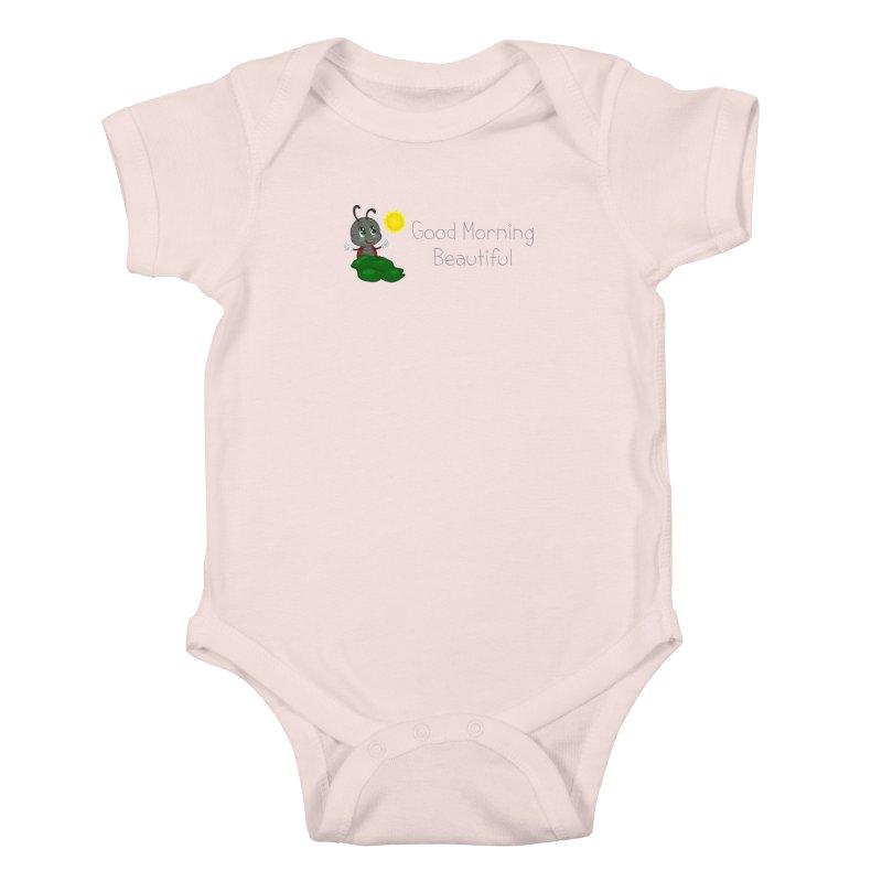 Ladybird Good Morning Beautiful Kids Baby Bodysuit by BubaMara's Artist Shop