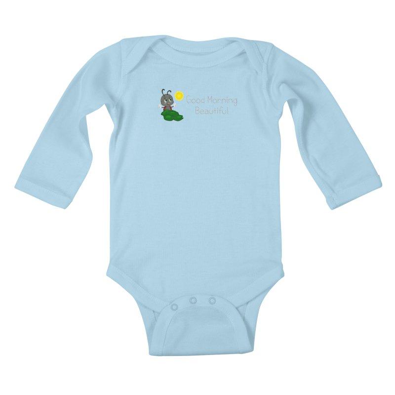 Ladybird Good Morning Beautiful Kids Baby Longsleeve Bodysuit by BubaMara's Artist Shop