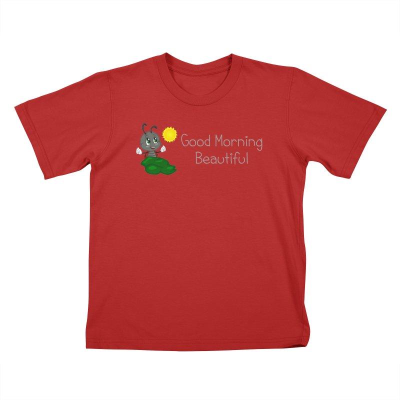Ladybird Good Morning Beautiful Kids T-shirt by BubaMara's Artist Shop