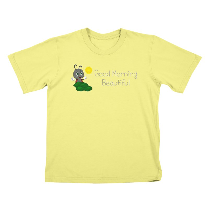 Ladybird Good Morning Beautiful Kids T-shirt by BubaMara's Artist Shop