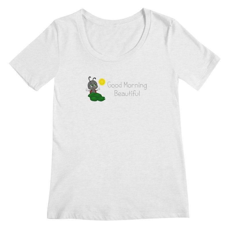 Ladybird Good Morning Beautiful Women's Regular Scoop Neck by BubaMara's Artist Shop