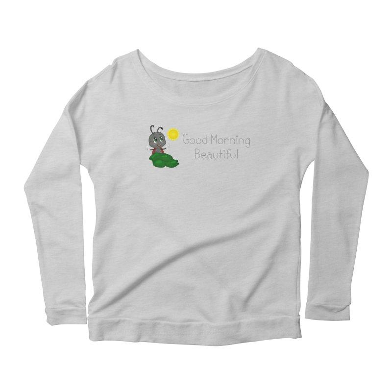 Ladybird Good Morning Beautiful Women's Scoop Neck Longsleeve T-Shirt by BubaMara's Artist Shop