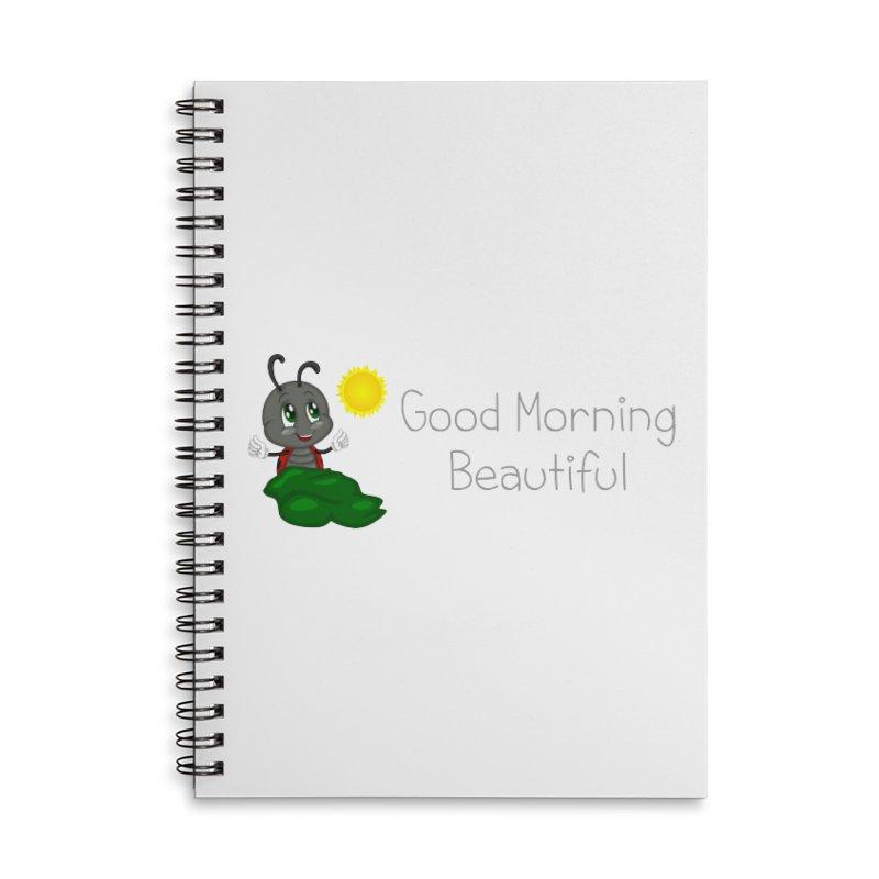 Ladybird Good Morning Beautiful Accessories Lined Spiral Notebook by BubaMara's Artist Shop