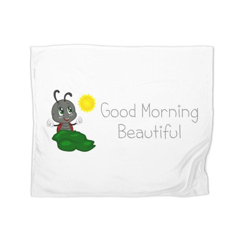 Ladybird Good Morning Beautiful Home Fleece Blanket by BubaMara's Artist Shop