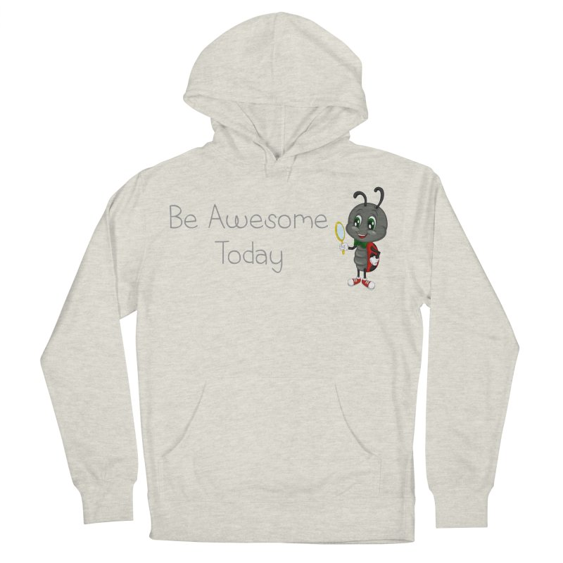 Ladybird Be Awesome Today Women's French Terry Pullover Hoody by BubaMara's Artist Shop