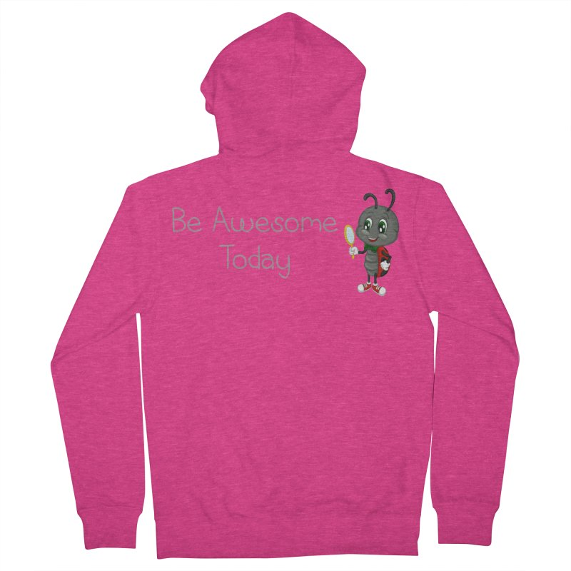 Ladybird Be Awesome Today Women's French Terry Zip-Up Hoody by BubaMara's Artist Shop