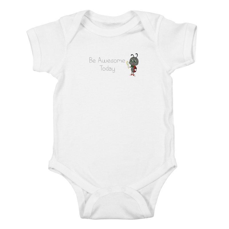 Ladybird Be Awesome Today Kids Baby Bodysuit by BubaMara's Artist Shop