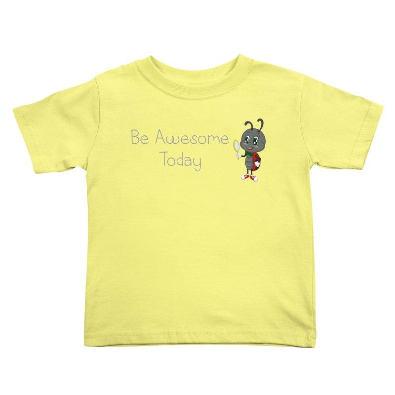 Ladybird Be Awesome Today Kids Toddler T-Shirt by BubaMara's Artist Shop