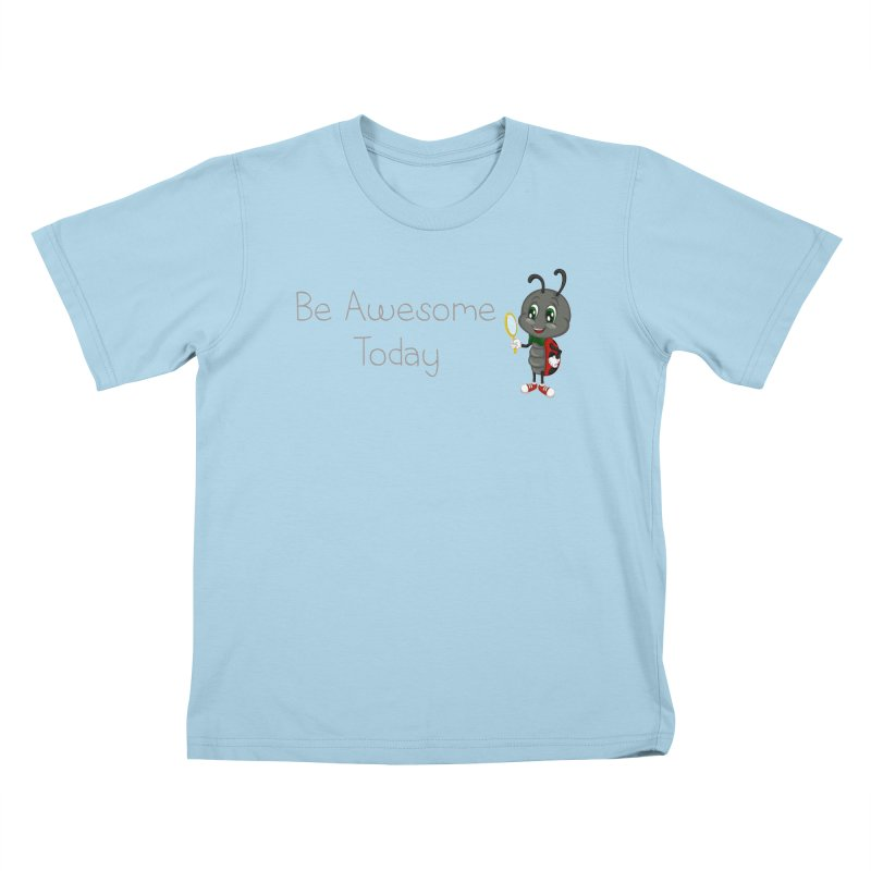 Ladybird Be Awesome Today Kids T-Shirt by BubaMara's Artist Shop