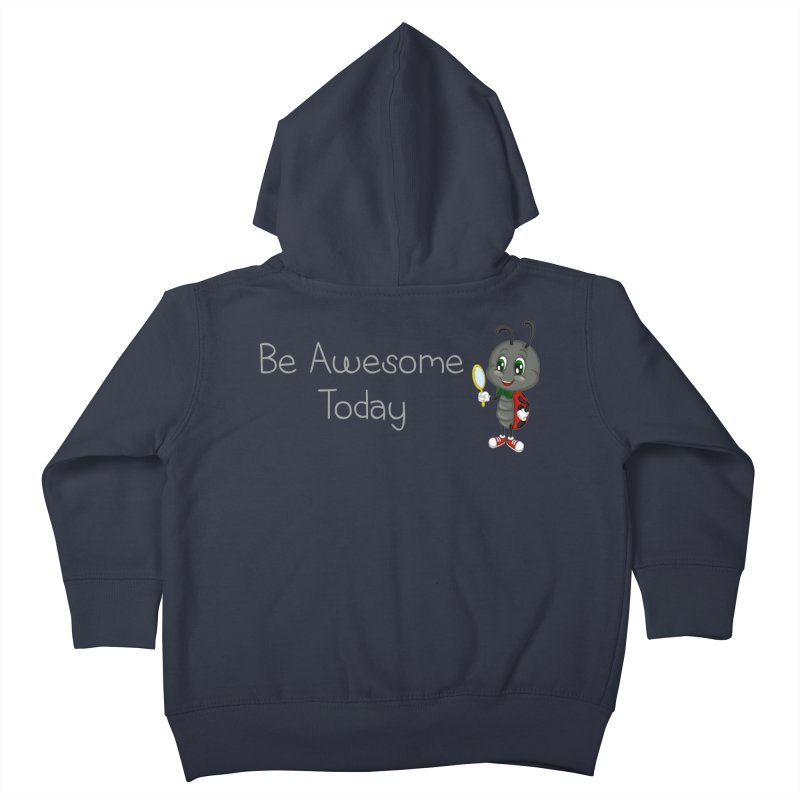 Ladybird Be Awesome Today Kids Toddler Zip-Up Hoody by BubaMara's Artist Shop