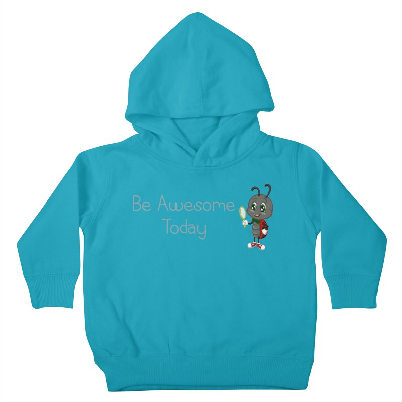 Ladybird Be Awesome Today Kids Toddler Pullover Hoody by BubaMara's Artist Shop