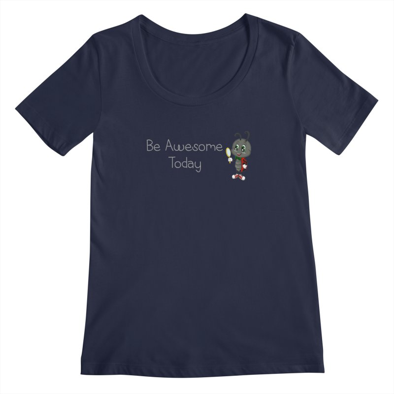 Ladybird Be Awesome Today Women's Scoopneck by BubaMara's Artist Shop