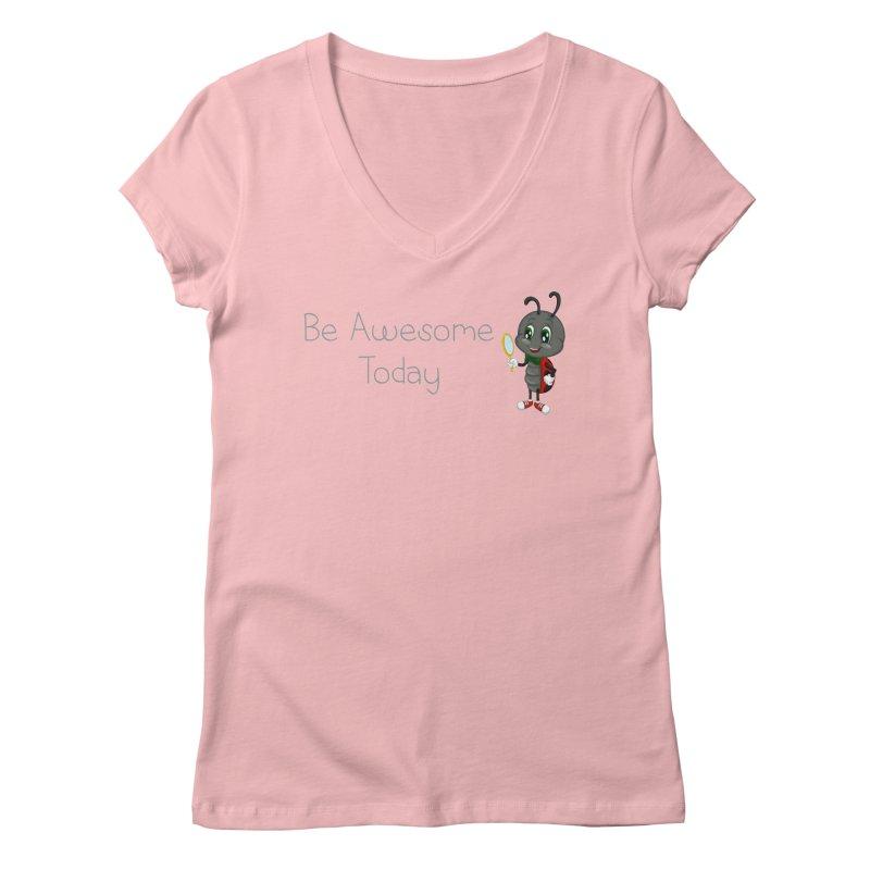 Ladybird Be Awesome Today Women's Regular V-Neck by BubaMara's Artist Shop