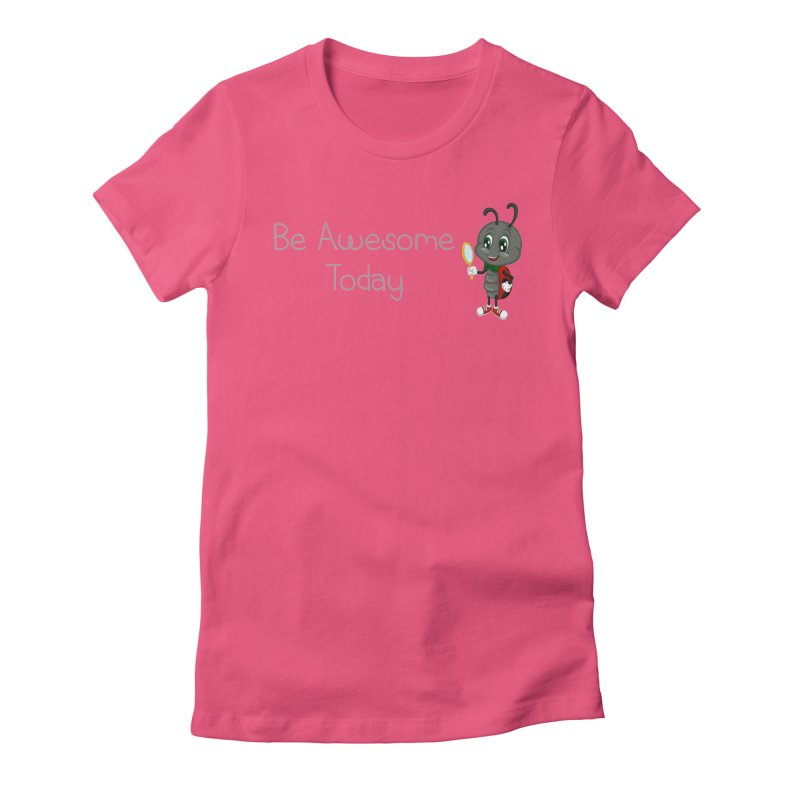Ladybird Be Awesome Today Women's Fitted T-Shirt by BubaMara's Artist Shop