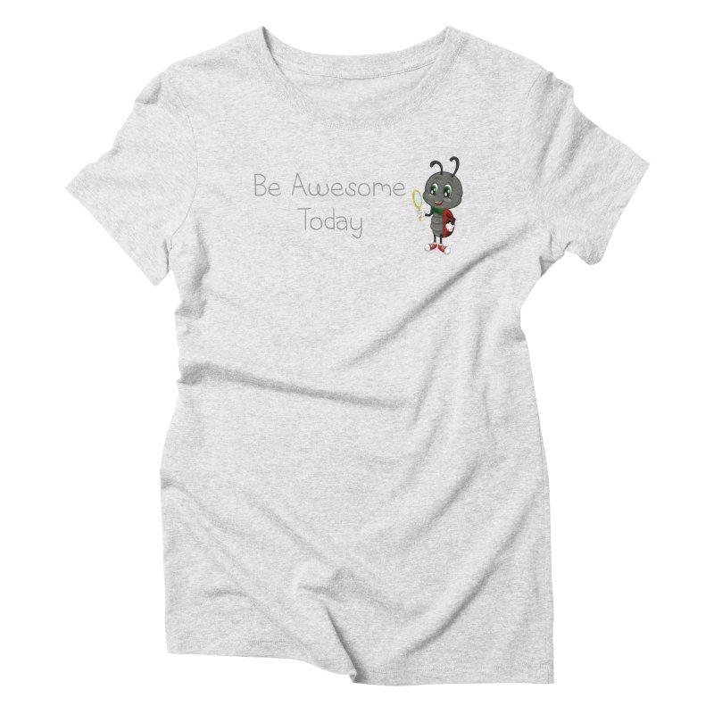 Ladybird Be Awesome Today Women's Triblend T-Shirt by BubaMara's Artist Shop