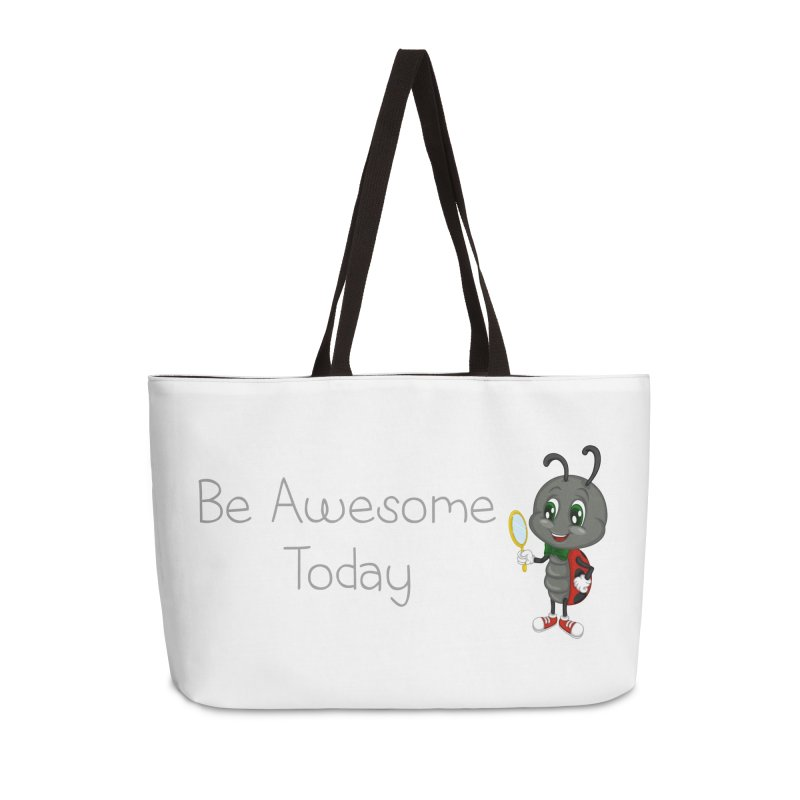 Ladybird Be Awesome Today Accessories Weekender Bag Bag by BubaMara's Artist Shop