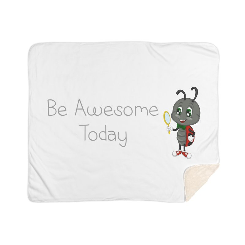 Ladybird Be Awesome Today Home Sherpa Blanket Blanket by BubaMara's Artist Shop