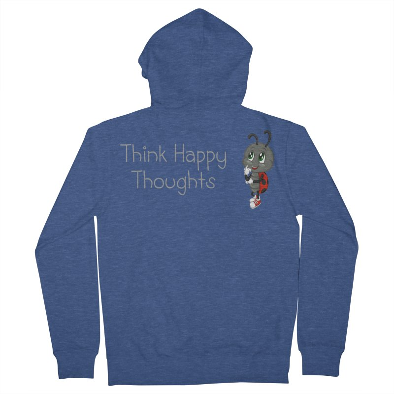 Ladybird Think Happy Thoughts Women's French Terry Zip-Up Hoody by BubaMara's Artist Shop