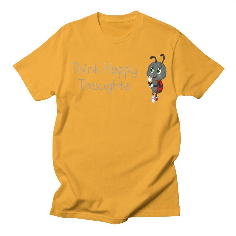 Ladybird Think Happy Thoughts Women's Regular Unisex T-Shirt by BubaMara's Artist Shop