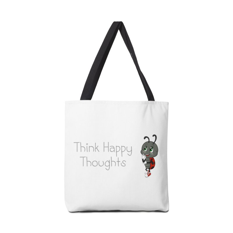 Ladybird Think Happy Thoughts Accessories Tote Bag Bag by BubaMara's Artist Shop
