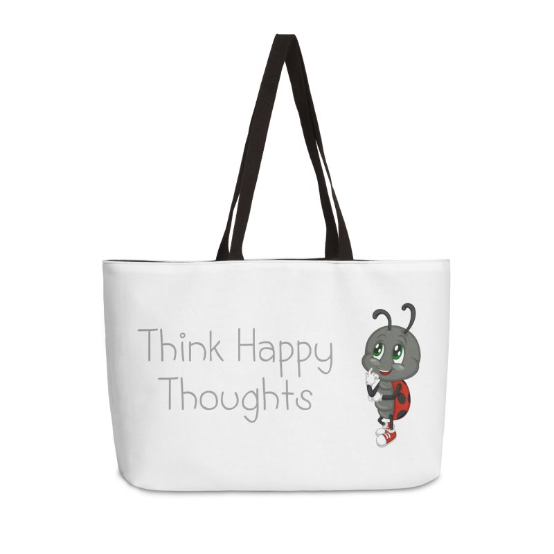 Ladybird Think Happy Thoughts Accessories Weekender Bag Bag by BubaMara's Artist Shop