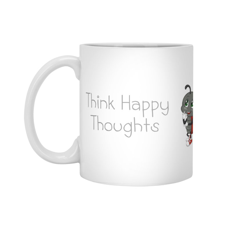 Ladybird Think Happy Thoughts Accessories Standard Mug by BubaMara's Artist Shop