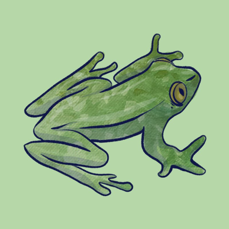 Tree Frog Men's T-Shirt by BubbSnugg