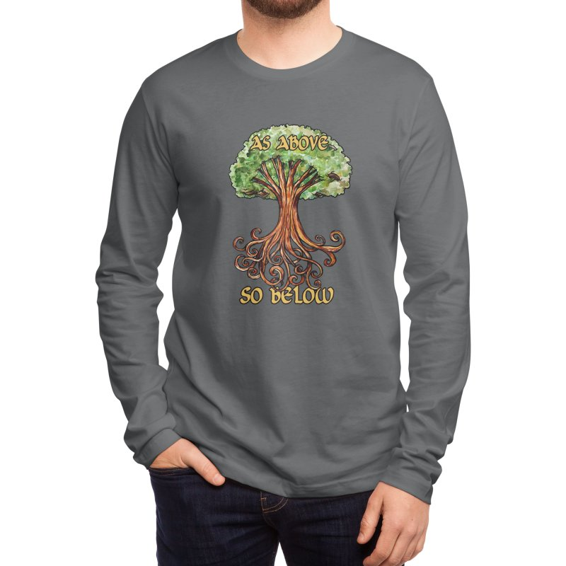 As above so below Men's Longsleeve T-Shirt by BubbSnugg