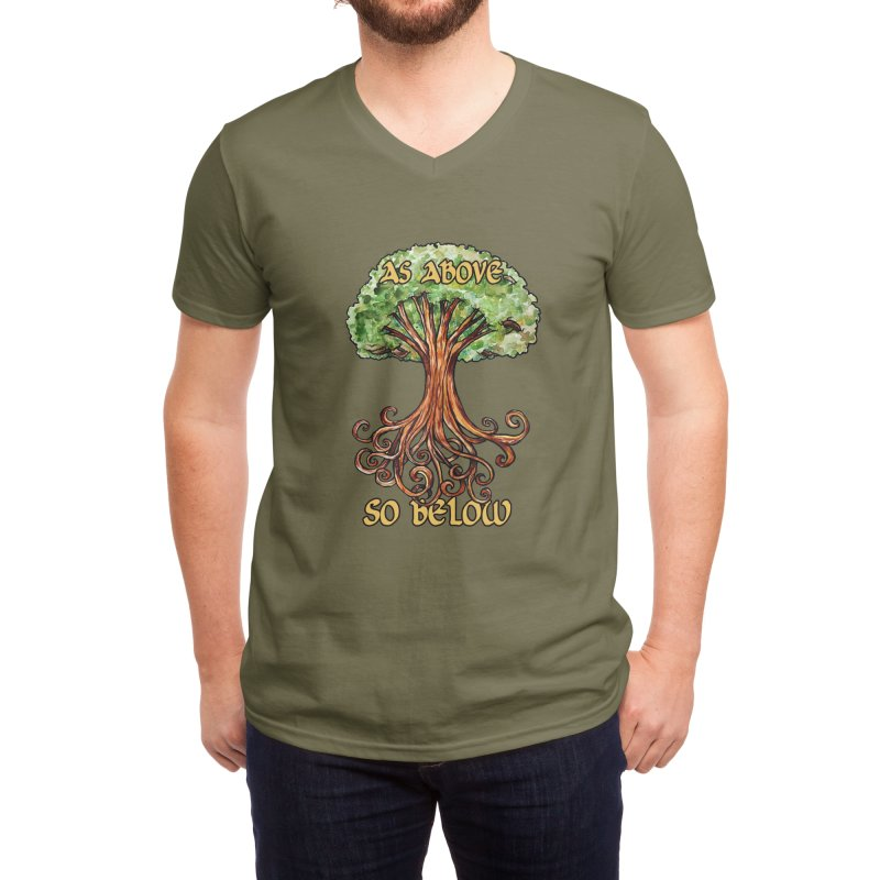As above so below Men's V-Neck by BubbSnugg