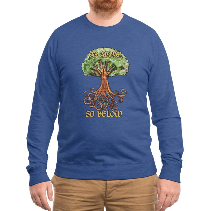 As above so below Men's Sweatshirt by BubbSnugg