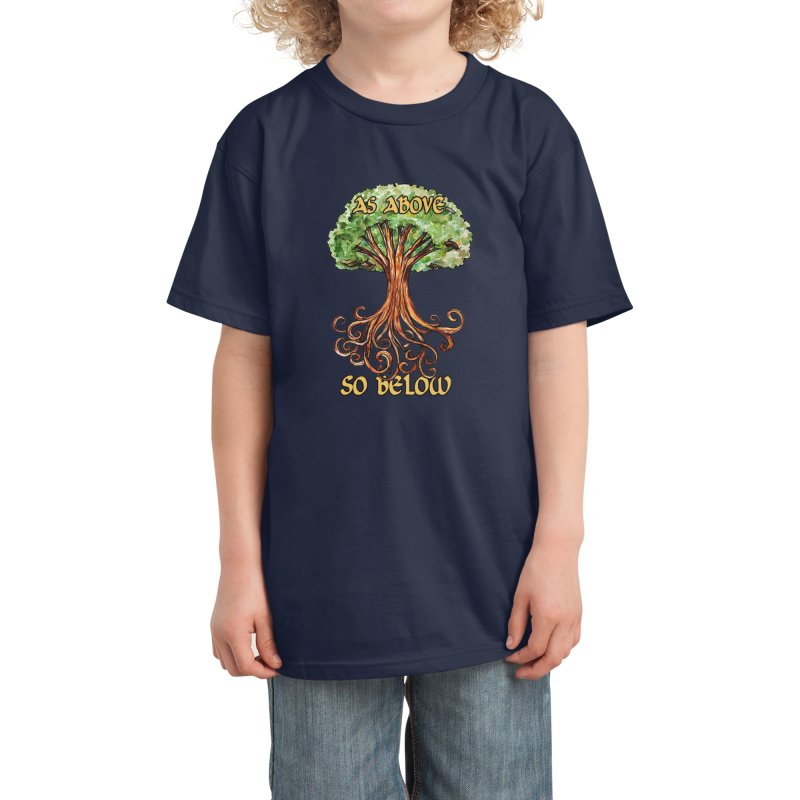 As above so below Kids T-Shirt by BubbSnugg