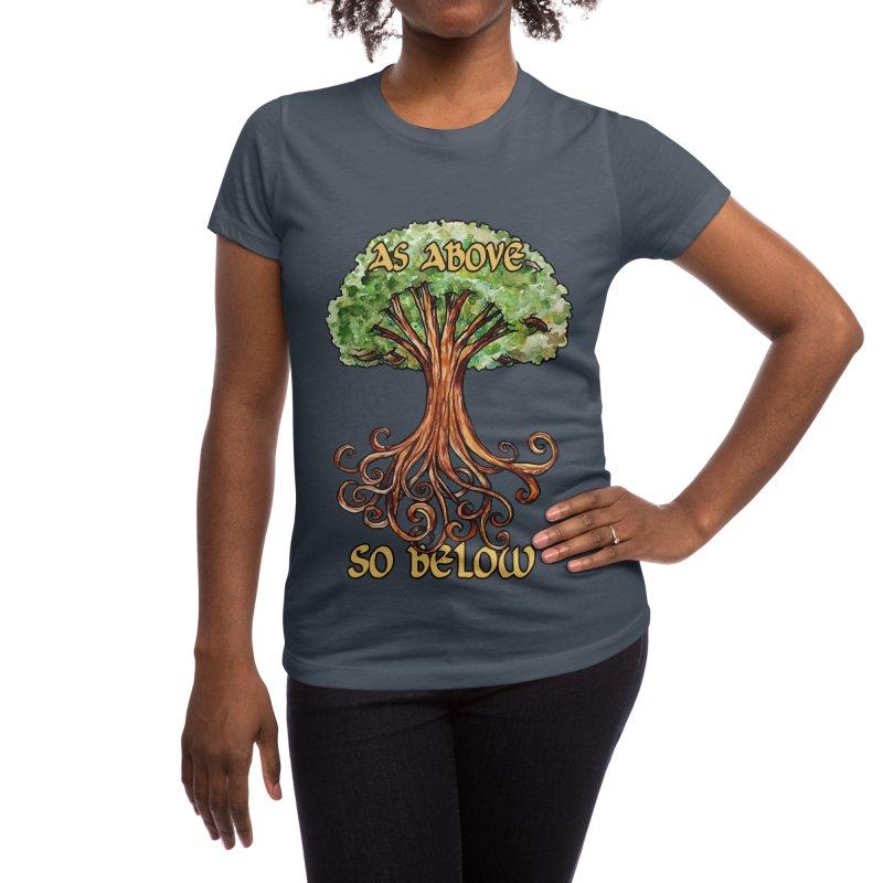 As above so below Women's T-Shirt by BubbSnugg