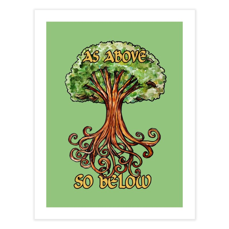 As above so below Home Fine Art Print by BubbSnugg