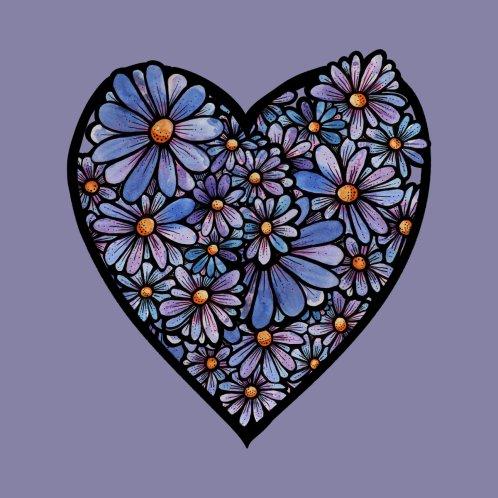 Design for Purple Daisies Heart