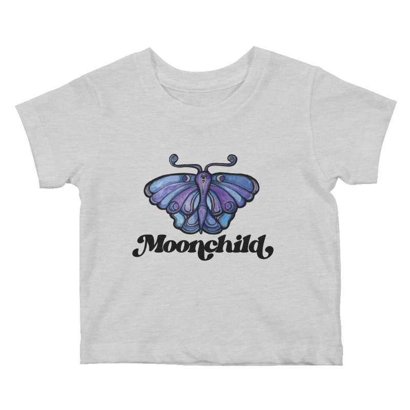 MoonChild Purple Moth Kids Baby T-Shirt by BubbSnugg