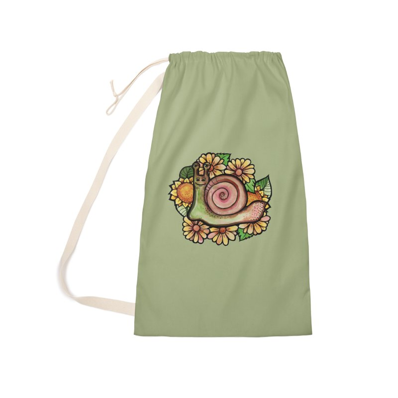 Floral Snail Accessories Bag by BubbSnugg