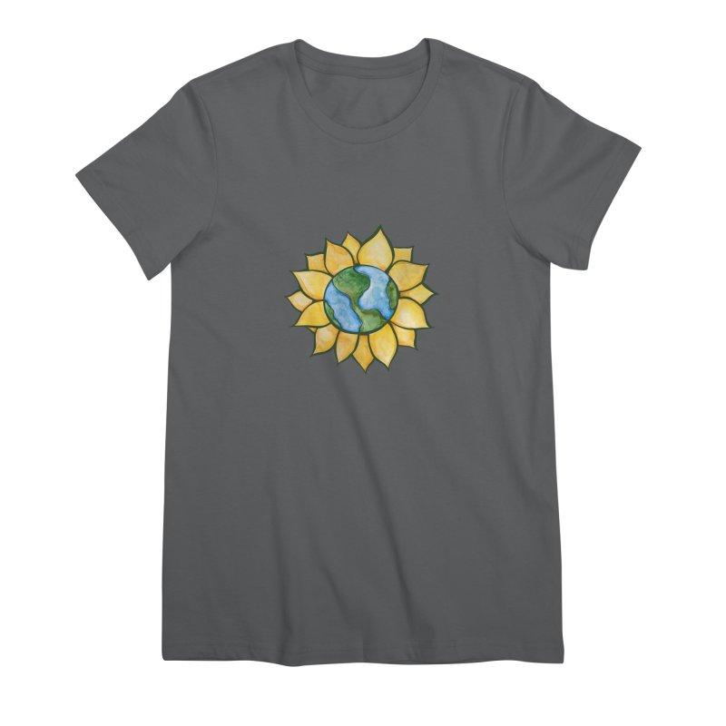 Sunflower Earth Women's T-Shirt by BubbSnugg
