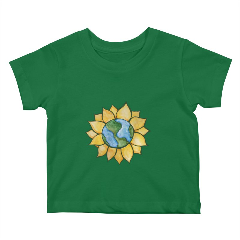 Sunflower Earth Kids Baby T-Shirt by BubbSnugg