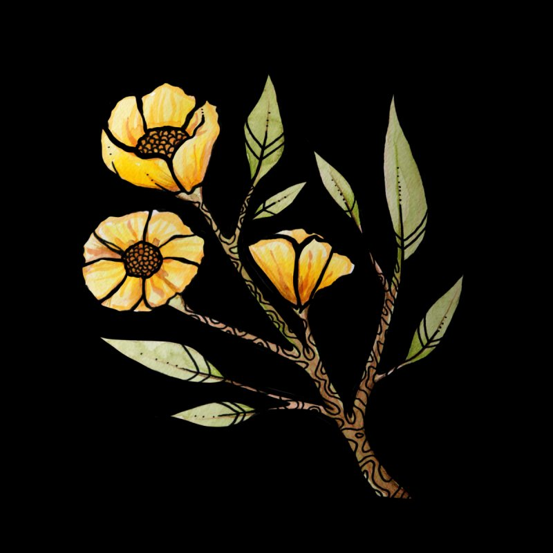 Yellow Buttercup Flowers Men's Tank by BubbSnugg