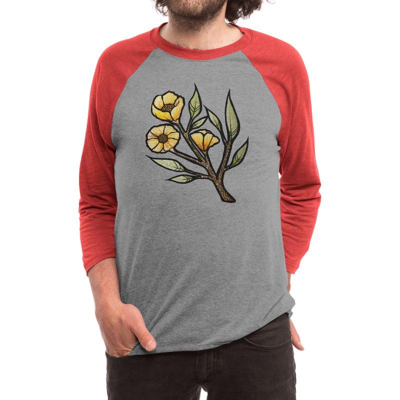 Yellow Buttercup Flowers Men's Longsleeve T-Shirt by BubbSnugg