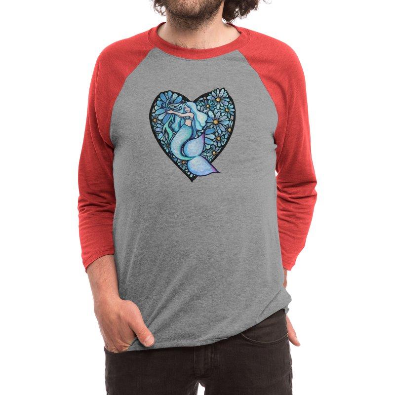 Daisy Mermaid Men's Longsleeve T-Shirt by BubbSnugg