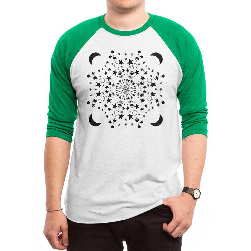 Moon Mandala Men's Longsleeve T-Shirt by BubbSnugg