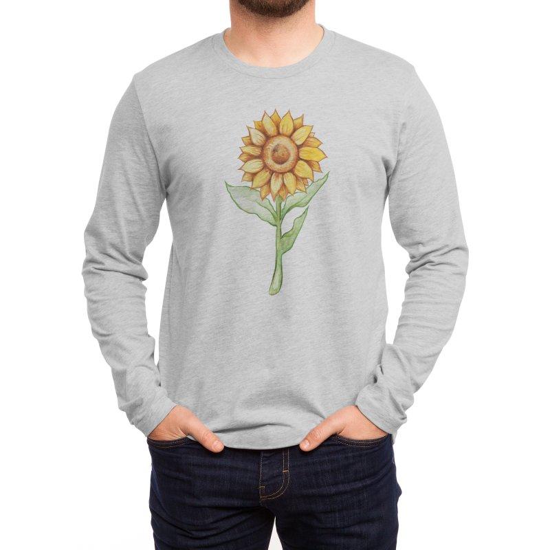 Sunflower Men's Longsleeve T-Shirt by BubbSnugg
