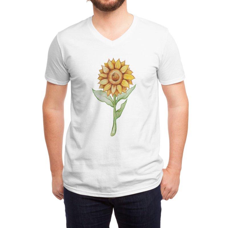 Sunflower Men's V-Neck by BubbSnugg