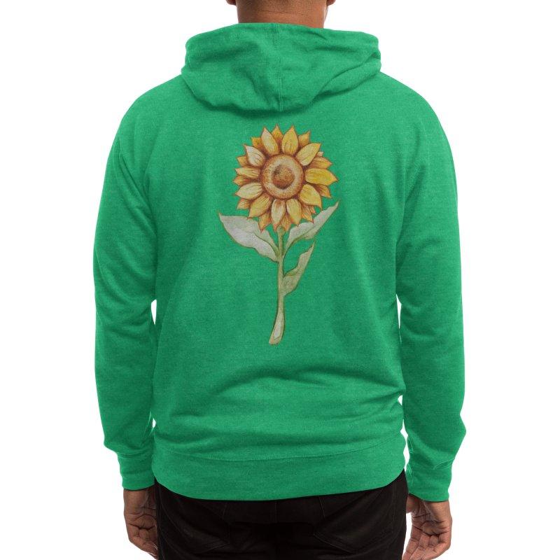 Sunflower Men's Zip-Up Hoody by BubbSnugg
