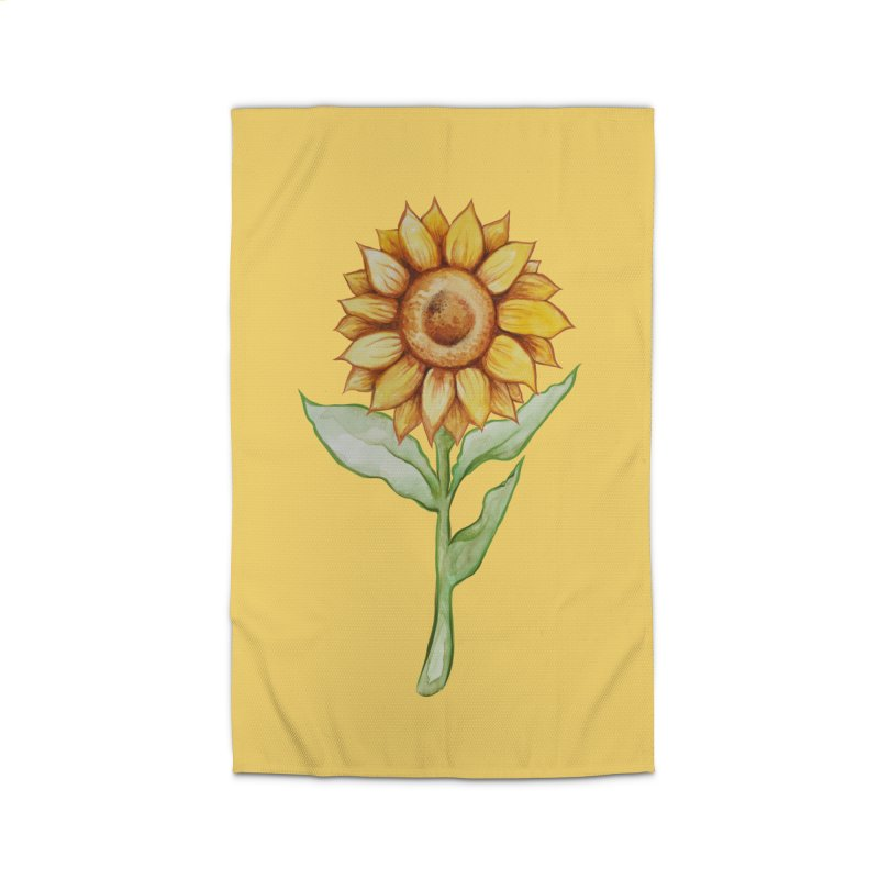 Sunflower Home Rug by BubbSnugg