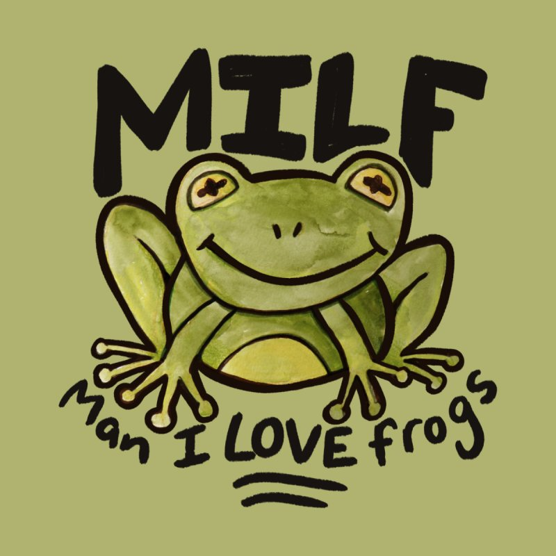 MILF Man I love frogs Accessories Greeting Card by BubbSnugg