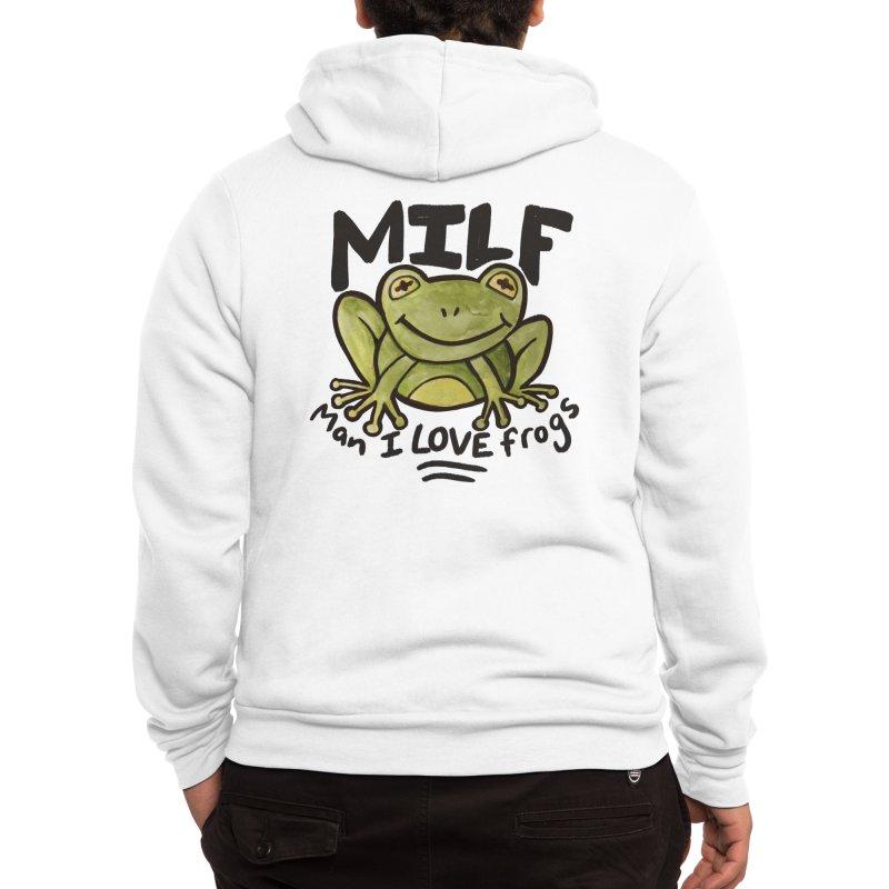 MILF Man I love frogs Men's Zip-Up Hoody by BubbSnugg