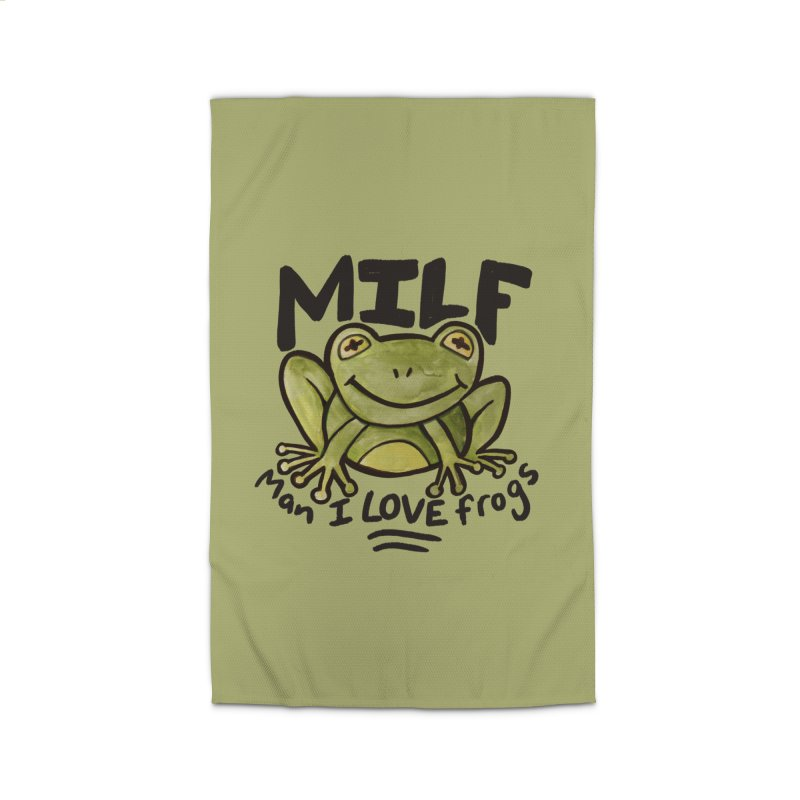 MILF Man I love frogs Home Rug by BubbSnugg