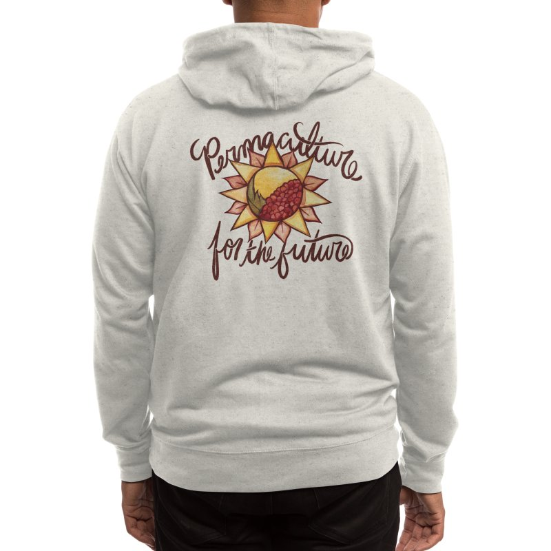 Permaculture for the future Men's Zip-Up Hoody by BubbSnugg
